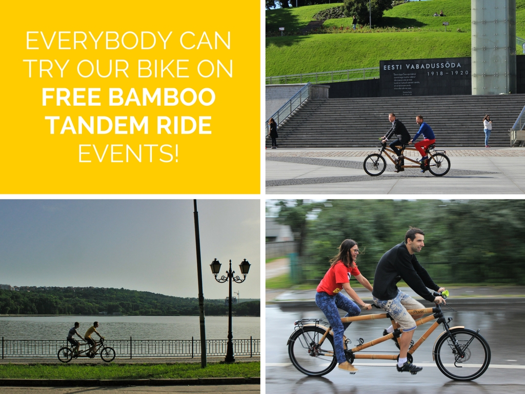 Bamboo tandem rides